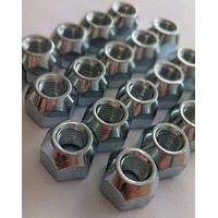 MRC TFI Racing 55-000 20 x Chrome Acorn Open Wheel Nuts 7/16 early Ford MK1 Cortina MK1 MK2 Escort