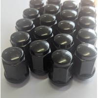 MRC TFI Racing 56-000 20 x Black Bulge Wheel Nuts Steel 7/16 early Holden FB-HT,HG,HQ,WB Torana