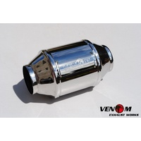 "Venom Exhaust High flow stainless 2.5"" 63.5mm 200 cell Cat Catalytic Converter."